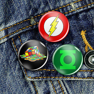 The Big Bang Theory Sheldon Pin Button Badge 25mm, CHOICE OF 3
