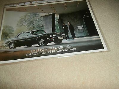 The Daimler Double Six & Sovereign 4.2 Two Door Range,1976.Brochure.nr MINT
