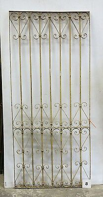 Antique Egyptian Architectural Wrought Iron Panel Grate (I-08)