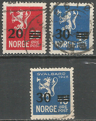 Norway 1927  used stamps set