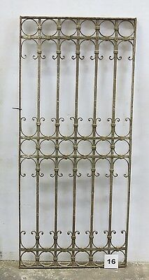 Antique Egyptian Architectural Wrought Iron Panel Grate (I-16)