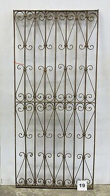 Antique Egyptian Architectural Wrought Iron Panel Grate (I-19)