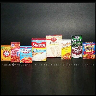 VHTF 1:6 Scale Assorted Food Diorama Lot #2 For Barbie, F.R. For The Collector