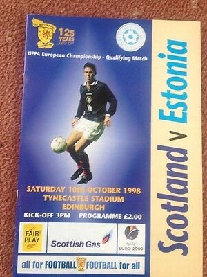 Scotland V Estonia 1998-99