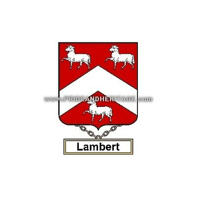 "Genealogy, Family Crest 6"" Decal- English- Lambert"