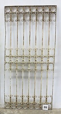 Antique Egyptian Architectural Wrought Iron Panel Grate (I-26)