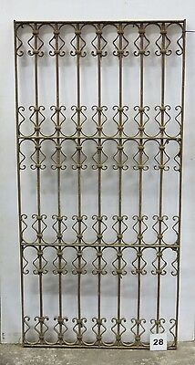 Antique Egyptian Architectural Wrought Iron Panel Grate (I-28)
