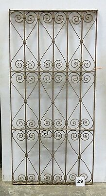 Antique Egyptian Architectural Wrought Iron Panel Grate (I-29)