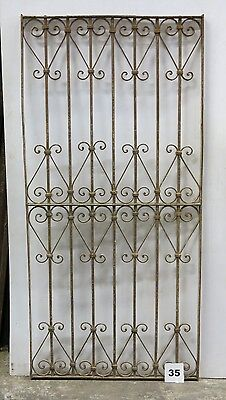 Antique Egyptian Architectural Wrought Iron Panel Grate (I-35)