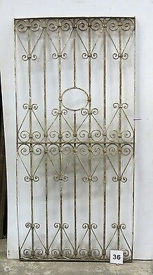 Antique Egyptian Architectural Wrought Iron Panel Grate (I-36)