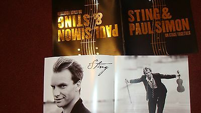 PAUL SIMON AND STING , On Stage Together PROGRAM x 2