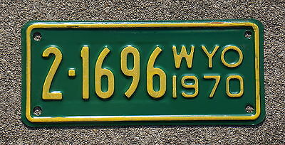 1970 Wyoming Motorcycle License Plate