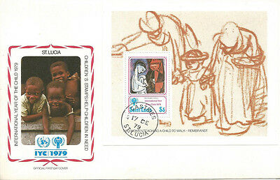 FDC International year of the Child St. Lucia 1979 / picasso painters