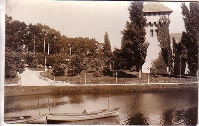 Uruguay -  Montevideo - Lago del Parque Rodó unused real photo postcard