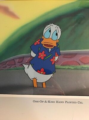 Donald Duck Walt Disney Sericel Cel Certified New MINT Quack Pack Hand Painted