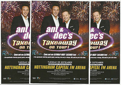 Ant & Dec's Saturday Night Takeaway 2014 Nottingham Capital FM Arena FLYERS x 3