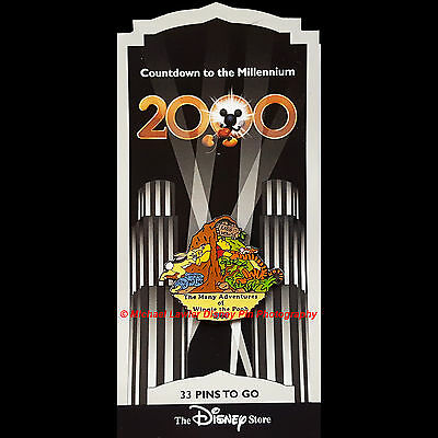 Disney Store Countdown To The Millennium #34 Many Adventures Winnie The Pooh Pin