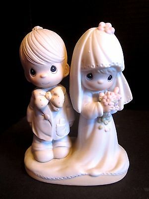 Precious Moments Bride Groom Cake Topper The Lord Bless You Figurine 1979 E3114
