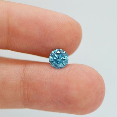 Fancy Blue Natural Loose Diamond 1.13 Carat SI2 Round Shape - Color Enhanced