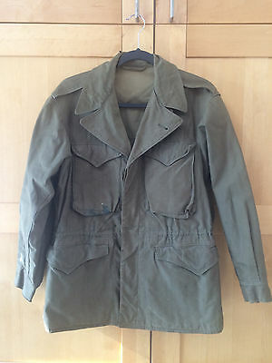 Authentic U.S. Army M-1943 WWII Field Jacket - Olive Drab Uniform Fatigue Cargo
