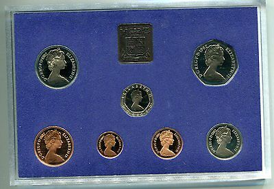 1982 Great Britain Decimal Proof Set with COA & Cardboard Cover