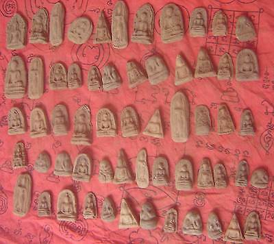 59Style Holy Old Fired  tablet  Clay many famous monk Amulet Thai