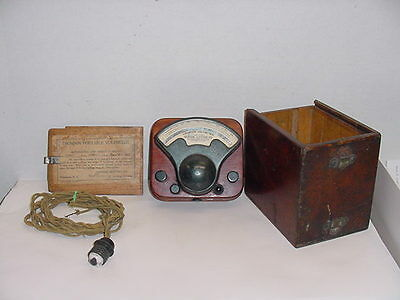 General Electric Co. 1909 Thomson Voltmeter pat.1897-1909
