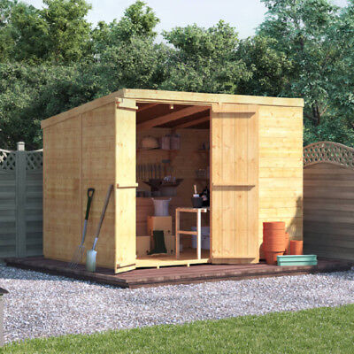8x6 Wooden Pent Shed - BillyOh Windowless, Double Doored, Master Tongue & Groove