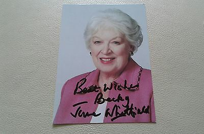 June Whitfield signed Autographed photo