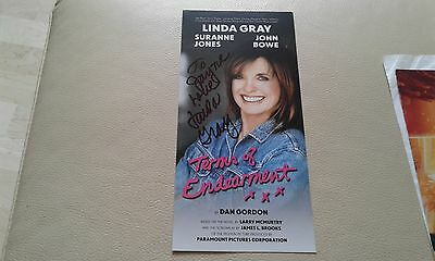 Linda Gray signed Autographed photo theatre flyer