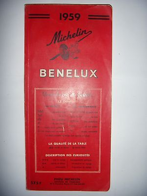 Belgique, Luxembourg: Guide Michelin: BENELUX, 1959, BE