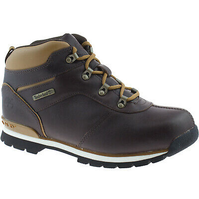 e180221556dd BOYS TIMBERLAND SPLITROCK 2 Leather Boots Size Uk 3 - 6.5 Hiker Dark Brown  9692R - EUR 69