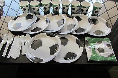 Football Kids Party Napkins Plates Cutlery Cups Banner Soccer Fun Bargains Hats