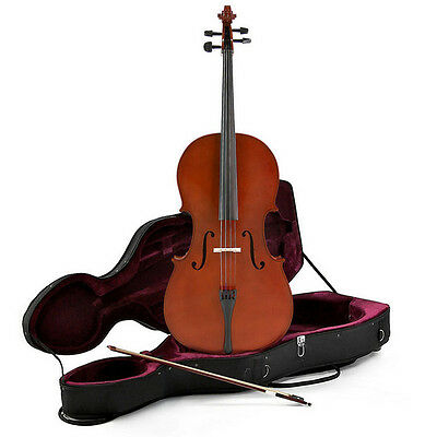 New Student 1/2 Size Cello with Case by Gear4music