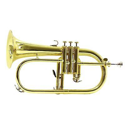 New Flugel Horn, Gold, With Case by Gear4music