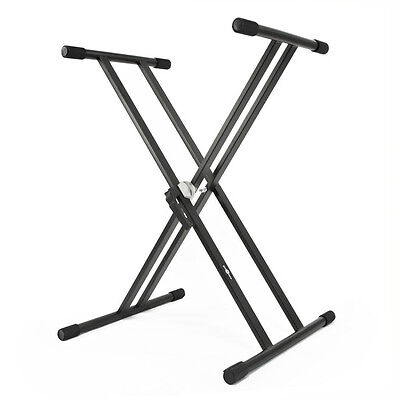 New X-Frame Double Braced Keyboard Stand by Gear4music