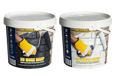 Technoseal Liquid Damp Proof Water Proofing Paint 5L for Basements Walls Floors