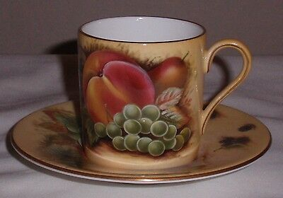 Aynsley Orchard Gold Coffee Can and Saucer.