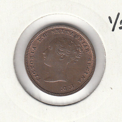 1844 Half Farthing Victoria UNC Spink 3951 Uncirculated -nice coin