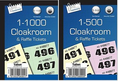 Raffle Tickets And Clockroom Duplicate Number Pad Book Security Numbered Coded