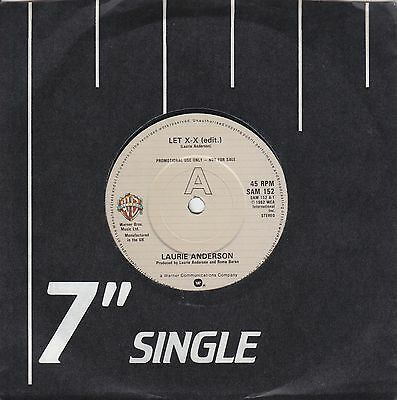 "LAURIE ANDERSON LET X=X (EDIT.) 1982 WB SAM152 - RARE PROMO-ONLY 7"" 45rpm SYNTH"
