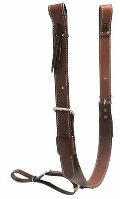 New Pony Brown Leather Western Back Cinch Girth Rear Cinch Saddle Flank Cinches