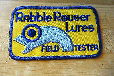 Rabble Rouser Lures field Tester tournement sponsor advertising obsolete patch