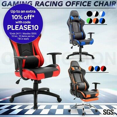 PU Leather Computer Office Chair High Back Executive Gaming Racing Sport Seat