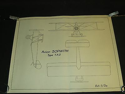 AVION SOPWITH type 1A2  ancien planche aéronautique aviation plane /G