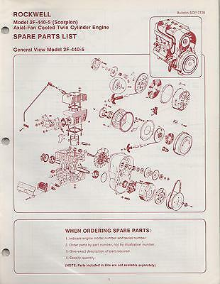 Rockwell Engines 2F-440-5 (Scorpion)  Spare Parts Manual New