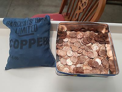 OVER 1000 Uncirculated 1967 Elizabeth II Full Penny Copper Pennies All Mint Cond