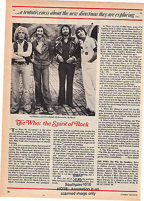 """The Who """"The Who By Numbers"""" Record Album Review Photo Article"""