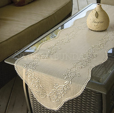 Sheer Divine Table Runner by Heritage Lace, Choice of 4 Sizes & 3 Colors, Choice