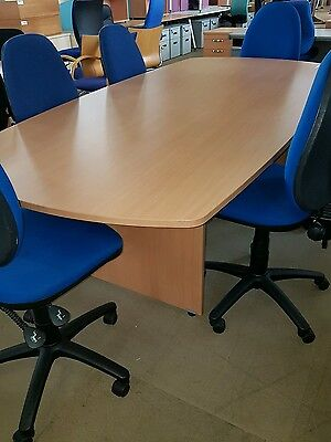 Reduced NEW 2.4 m Boardroom Conference Meeting Table And 6 used  Chairs